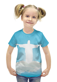 """Футболка с полной запечаткой для девочек """"Иисус Христос"""" - вера, религия, бог, иисус христос, отче"""