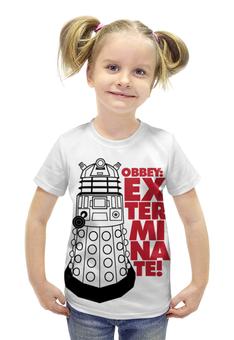 """Футболка с полной запечаткой для девочек """"Далеки (Доктор Кто)"""" - doctor who, доктор кто, далеки"""