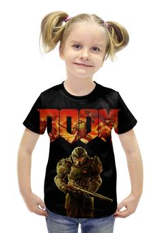 """Футболка с полной запечаткой для девочек """"Doom (Дум)"""" - doom, дум"""