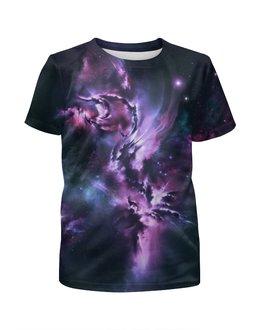 """Футболка с полной запечаткой для девочек """"Галактика"""" - футболки для девочек, футболка космос купить"""