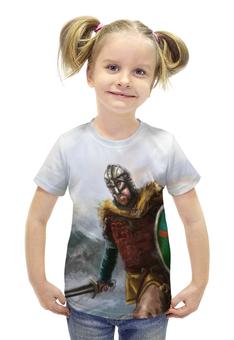 """Футболка с полной запечаткой для девочек """"Путь воина"""" - свобода, история, викинг, vikings, путь воина"""