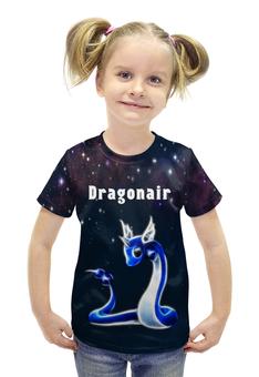 "Футболка с полной запечаткой для девочек ""PoKeMon Dragonair"" - pokemon, покемон, dragonair, драгонэйр"