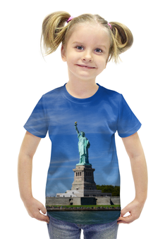 """Футболка с полной запечаткой для девочек """"Статуя Свободы"""" - нью-йорк, америка, статуя свободы"""