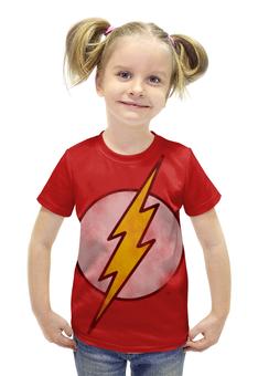 """Футболка с полной запечаткой для девочек """"Флэш (Flash)"""" - flash, комиксы, супергерои, флэш"""