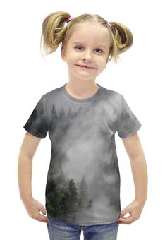"""Футболка с полной запечаткой для девочек """"Лес Австрии"""" - деревья"""