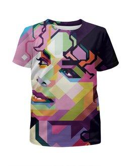 """Футболка с полной запечаткой для девочек """"Майкл Джексон """" - pop art"""