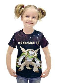 "Футболка с полной запечаткой для девочек ""PoKeMon Chesnaught"" - pokemon, покемон, chesnaught, чеснот"