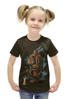 """Футболка с полной запечаткой для девочек """"Steampunk Robot"""" - dog, robot, steam"""