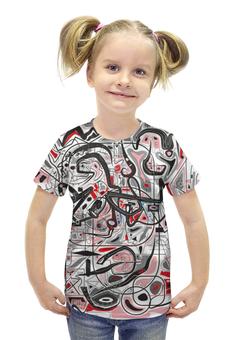"""Футболка с полной запечаткой для девочек """"Mamewax"""" - арт, узор, абстракция, фигуры, медитация"""