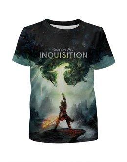 """Футболка с полной запечаткой для девочек """"Dragon Age Inquisition """" - rpg, драгон эйдж инквизиция"""