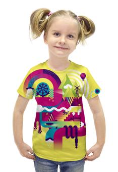 """Футболка с полной запечаткой для девочек """"Vector Exercise"""" - арт, рисунок, дизайн, графика, иллюстрация"""