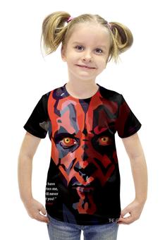 """Футболка с полной запечаткой для девочек """"Дарт Мол Звездные Войны Star Wars"""" - star wars, darth vader, звездные войны, дарт вейдер, дарт мол"""