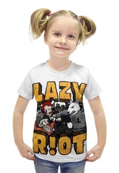"""Футболка с полной запечаткой для девочек """"Lazy riot"""" - rock, punk, hardcore"""