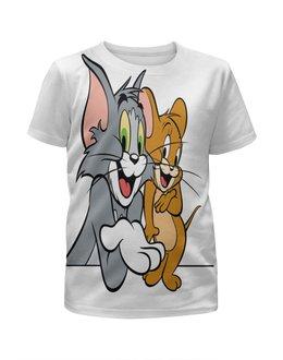 """Футболка с полной запечаткой для девочек """"Tom and Jerry. """" - tom and jerry, tom, jerry, мультик том и джерри"""