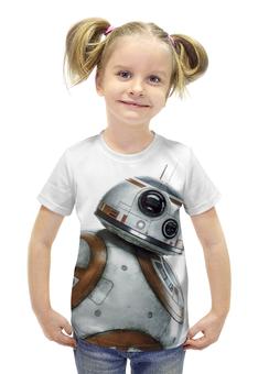 """Футболка с полной запечаткой для девочек """"Star Wars/Звездные войны Дроид BB8"""" - звездные войны, starwars, r2d2, bb8"""
