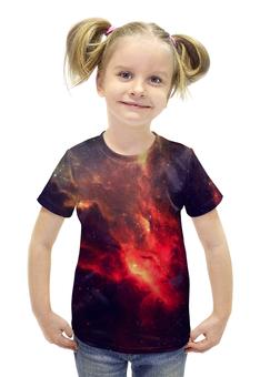 """Футболка с полной запечаткой для девочек """"Our Space"""" - звезды, космос, наука, в космосе, thespaceway"""