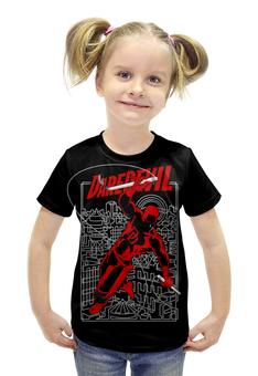 """Футболка с полной запечаткой для девочек """"Сорвиголова"""" - комиксы, супергерои, marvel, daredevil, сорвиголова"""