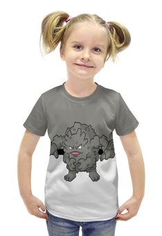 """Футболка с полной запечаткой для девочек """"Покемон Гравелер """" - pokemon, покемон, каменный, гравелер, graveler"""