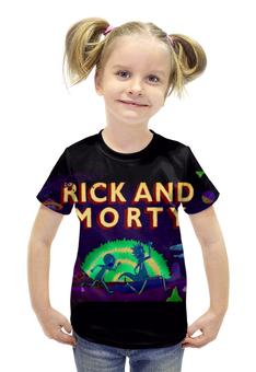 """Футболка с полной запечаткой для девочек """"Рик и Морти"""" - rick and morty"""