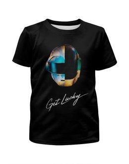 """Футболка с полной запечаткой для девочек """"Daft Punk """" - музыка, хаус, электроника, daft punk, дафт панк"""