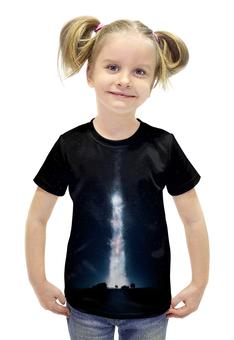 """Футболка с полной запечаткой для девочек """"Интерстеллар"""" - планета, космос, земля, путешествие, interstellar"""