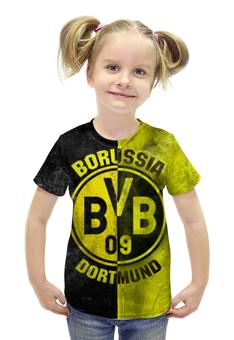 """Футболка с полной запечаткой для девочек """"Боруссия Дортмунд"""" - боруссия, bvb, borussia, dortmund"""