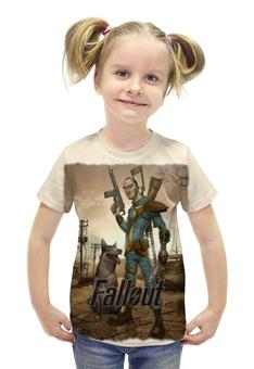 "Футболка с полной запечаткой для девочек ""Fallout game"" - game, fallout, game art, fallout 4, фаллоут"