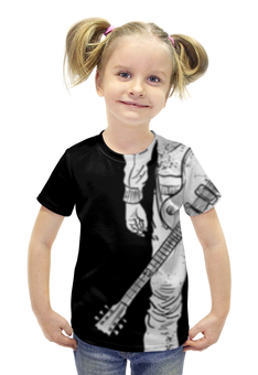 """Футболка с полной запечаткой для девочек """"Гитарист"""" - музыка, гитара, рок, музыкант, гитарист"""