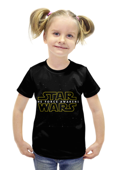 """Футболка с полной запечаткой для девочек """"Звездные войны: Эпизод 7 – Пробуждение силы"""" - star wars, the force awakens"""
