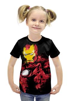 """Футболка с полной запечаткой для девочек """"Железный человек"""" - комиксы, супергерои, железный человек, iron man, тони старк"""