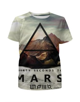 """Футболка с полной запечаткой для девочек """"30 Seconds to Mars"""" - 30 seconds to mars, 30 stm, 30 секунд до марса"""