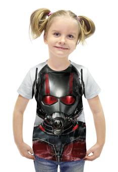 """Футболка с полной запечаткой для девочек """"Человек-муравей (Ant-Man)"""" - марвел, человек-муравей, ant-man"""