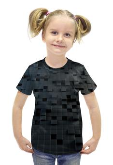 """Футболка с полной запечаткой для девочек """"Кубы 3D"""" - 3d, кубы"""