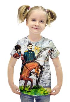 """Футболка с полной запечаткой для девочек """"Приключения на Кавказе"""" - ручная работа, детский рисунок, от детей, детская работа"""