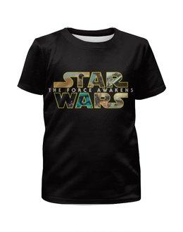 """Футболка с полной запечаткой для девочек """"Star Wars 7"""" - star wars, звёздные войны, пробуждение силы, the force awakens, episode vii"""