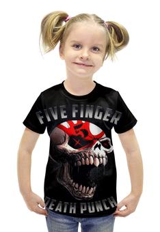 """Футболка с полной запечаткой для девочек """"five finger death punch"""" - рок и метал"""