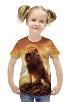 """Футболка с полной запечаткой для девочек """"Хроники Нарнии"""" - животные, lion, природа"""