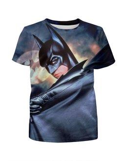 """Футболка с полной запечаткой для девочек """"Batman & Riddler"""" - комиксы, batman, бэтмен, загадочник"""