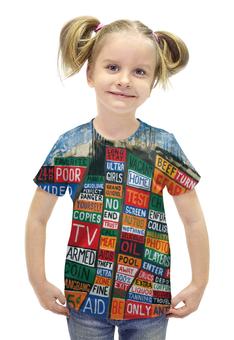 """Футболка с полной запечаткой для девочек """"Radiohead Album full print T-Shirt"""" - radiohead, cover, радиохед"""
