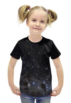 """Футболка с полной запечаткой для девочек """"Космос Space """" - space, звезды, космос, вселенная, галактика"""