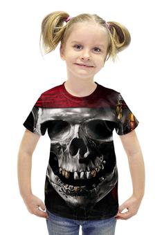 """Футболка с полной запечаткой для девочек """"Череп (Пираты Карибского Моря)"""" - череп, пираты карибского моря"""