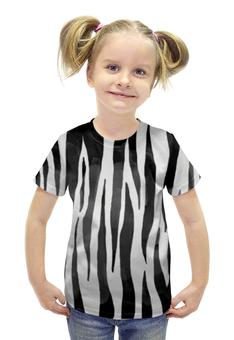 """Футболка с полной запечаткой для девочек """"Раскрас зебры"""" - арт, животные, зебра, раскрас"""