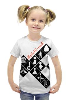 """Футболка с полной запечаткой для девочек """"Depeche Mode / Symbols"""" - depeche mode, dave gahan, synthpop, синти-поп, recoil"""