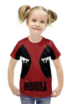 """Футболка с полной запечаткой для девочек """"Дэдпул (Deadpool)"""" - marvel, deadpool, дэдпул, wade wilson"""