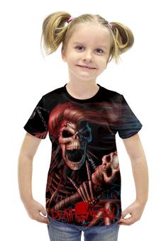 """Футболка с полной запечаткой для девочек """"Death Metal (Смерть)"""" - смерть, death metal, ужасы, мистика, металл"""