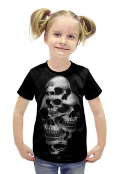 """Футболка с полной запечаткой для девочек """"Skull Art"""" - skull, череп, арт, черепа, рисунок"""