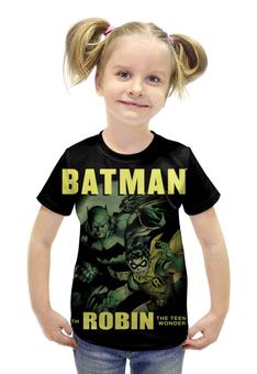 """Футболка с полной запечаткой для девочек """"Бэтмен и Робин"""" - комиксы, супергерои, бэтмен, робин"""