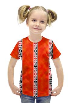"""Футболка с полной запечаткой для девочек """"Узор маори"""" - узор, маори, maori"""