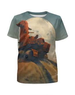 "Футболка с полной запечаткой для девочек ""The rover"" - mars, the rover, луноход, марсианин, the martian"