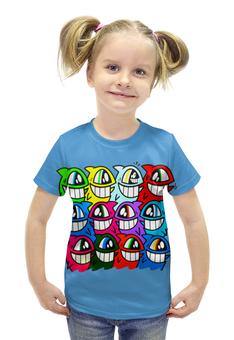 """Футболка с полной запечаткой для девочек """"Весёлый арт"""" - арт, дизайн, рыбки, рыба, fish"""